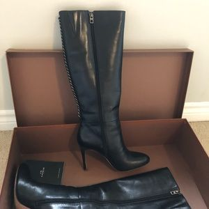 "Coach ""Nickie"" Black Leather Boots"